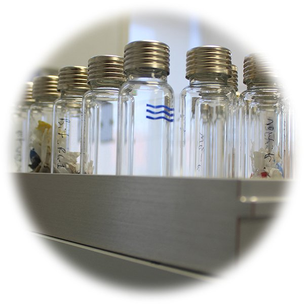 Vials for analysis by headspace GC-MS